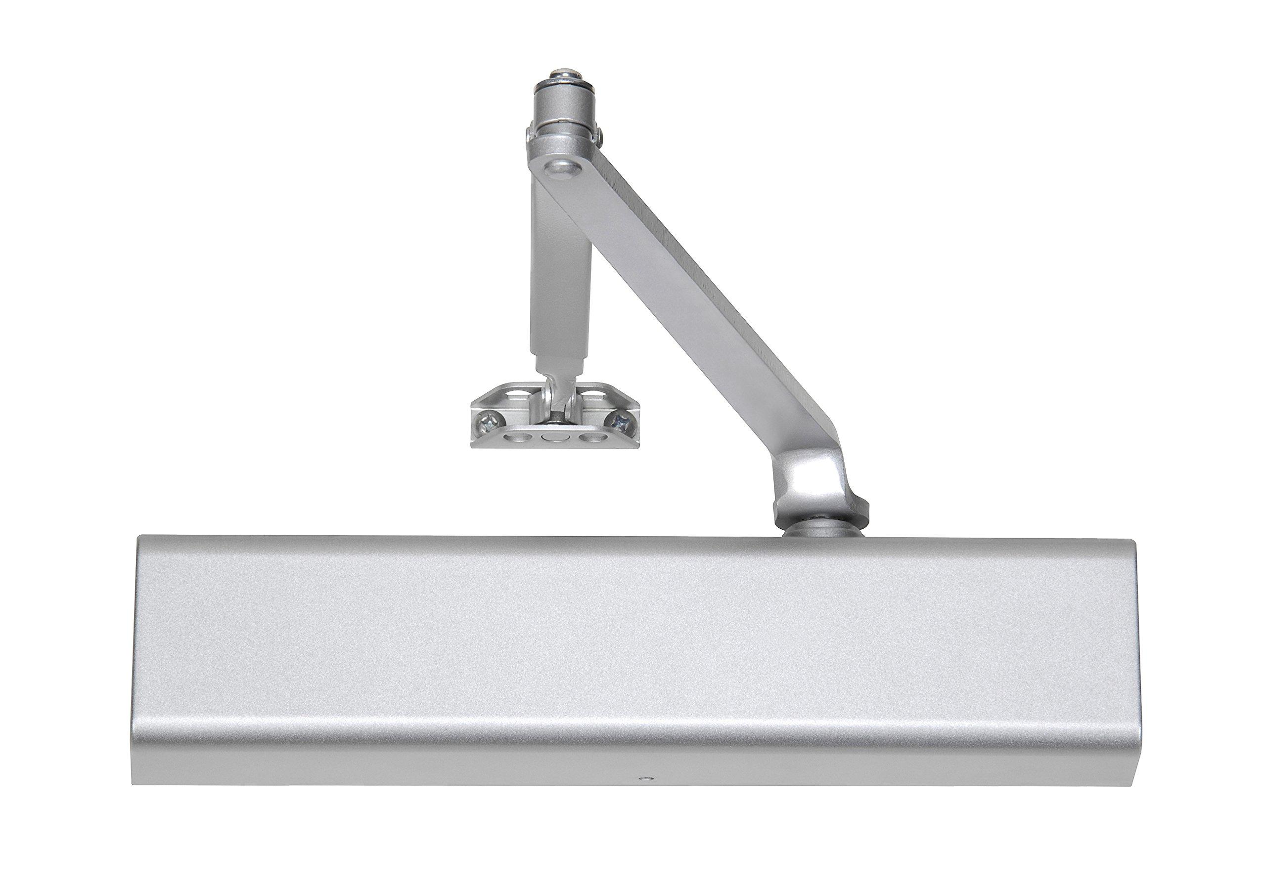 Norton Door Controls 210 x 689 210 Series Door Closer, Cast Aluminum Body, Adjustable Size 1-6, Aluminum Finish