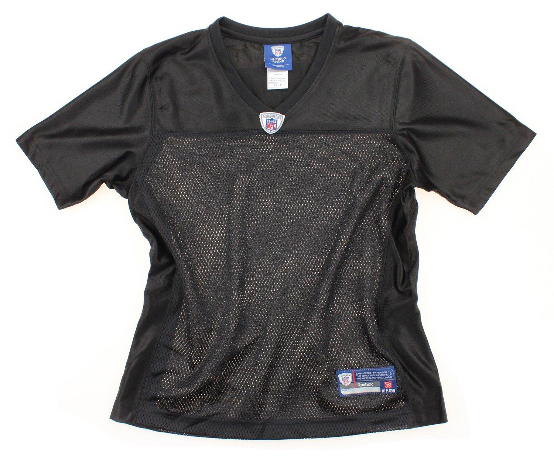 fe3395a2 Amazon.com : Reebok NFL Women's Blank Replica Jersey - Black : Clothing