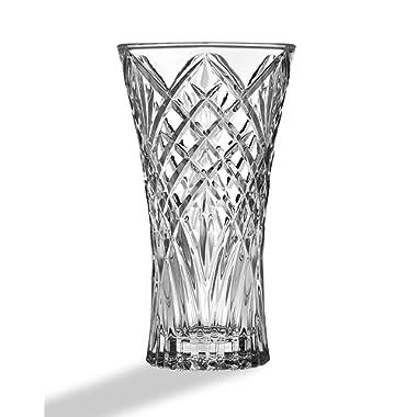 STUDIO SILVERSMITHS Crystal Flower Vase, Centerpiece Wedding Holiday Decoration - 9  Tall