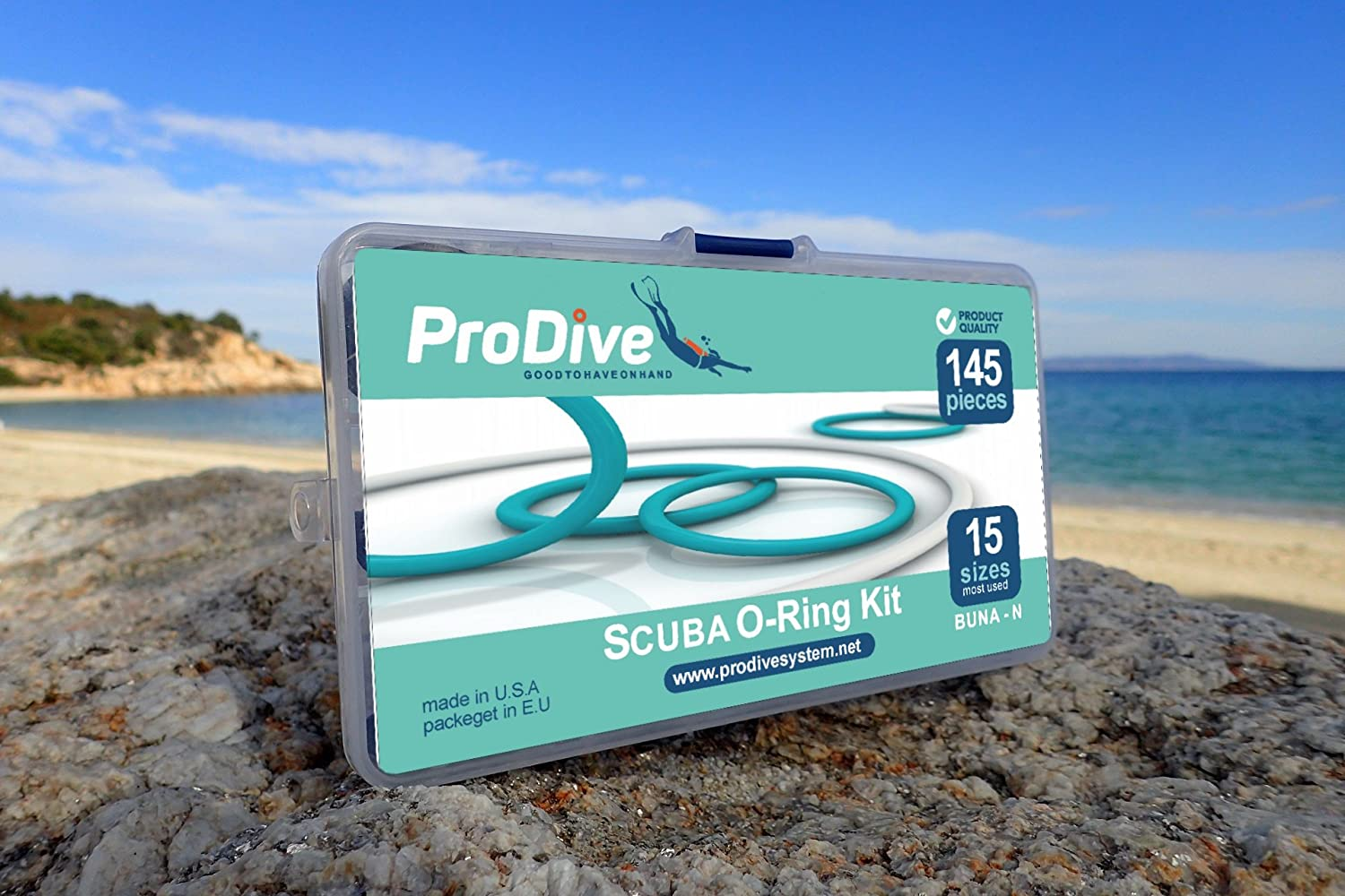 Scuba Diving Dive O-Ring Kit 15 Sizes 145 pcs Full Set O-Rings