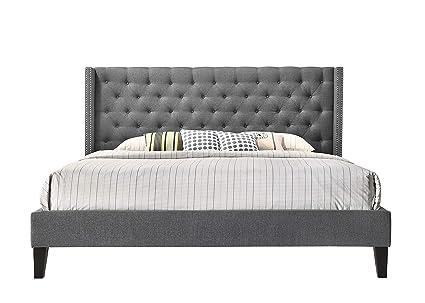 Amazon.com: ALTOZZO ALT-K6512-GRY Pacifica Contemporary Bed, King ...