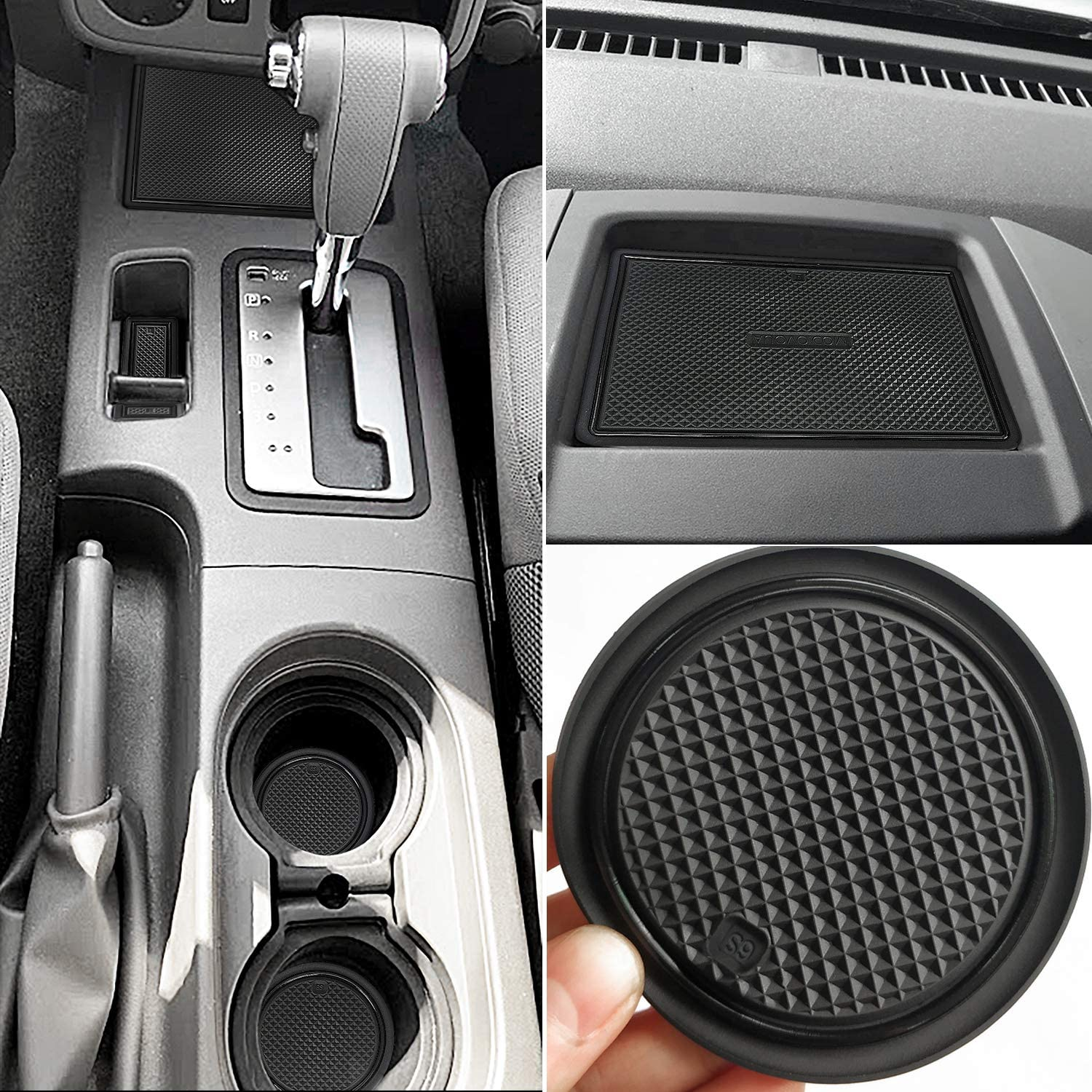 Auovo Anti Dust Mats for Nissan Frontier Crew Cab 10-10 Nissan Xterra  Accessories 10-10 Custom Fit Door Pocket Liners Cup Holder Pads Console