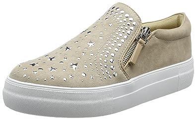 Buffalo Damen 515-7492-1 Microsuede Slip on Sneaker, Beige (Nude 01), 37 EU