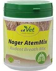 cdVet Naturprodukte Nager AtemMix 150 g  - Kaninchen - Meerschweinchen - Stabilisierung der Schleimhäute  - fördert Immunabwehr+Funktion der Atemwege -Herz-Kreislaufsystem - Bronchialkräuter -