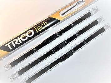 Juego de 3 escobillas limpiaparabrisas Trico delanteras y traseras de 45,7 x 45,7 x 45,7 cm: Amazon.es: Coche y moto