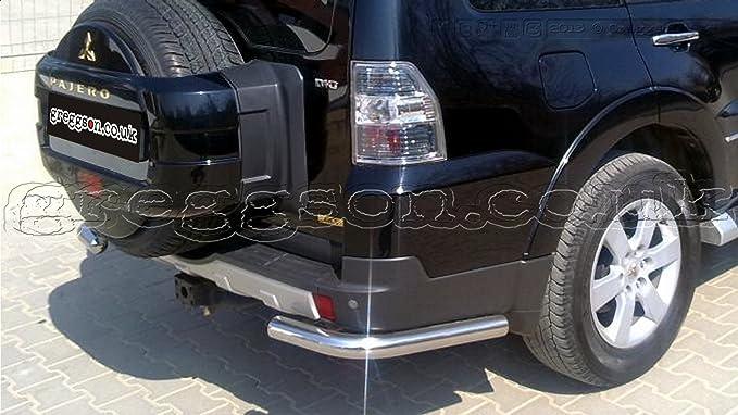 Mitsubishi Pajero acero inoxidable parachoques trasero protectores de barra de esquina 2014: Amazon.es: Coche y moto