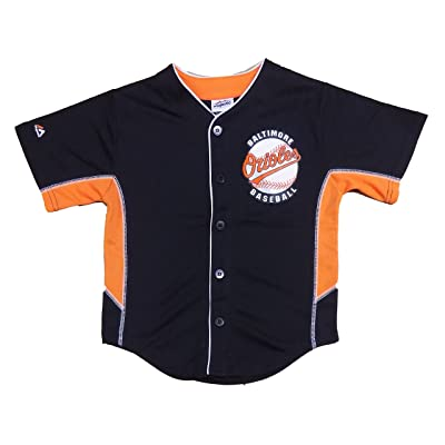 OuterStuff Baltimore Orioles Blank Black Kids Team Leader Replica Jersey