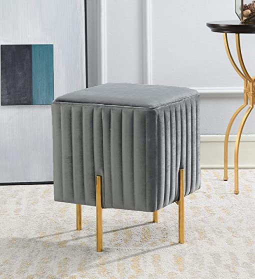 Comfortland 15.7 Inches Square Storage Ottoman Bench