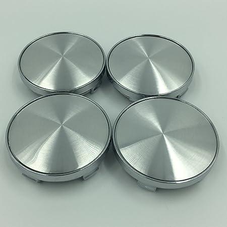 4 X Universal Chrome Silver Nabenkappen Nabendeckel Felgendeckel Radkappen 60mm Kein Logo Emblem Auto