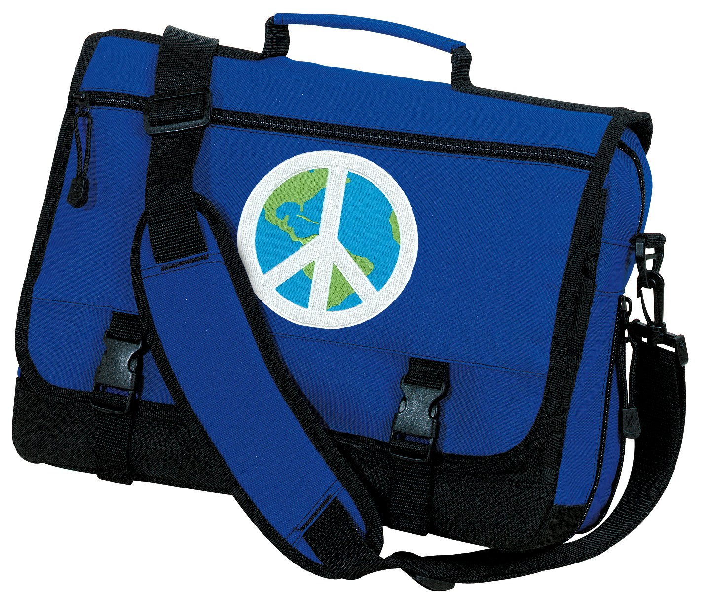 World Peace Laptop Bag Peace Sign Messenger Bags