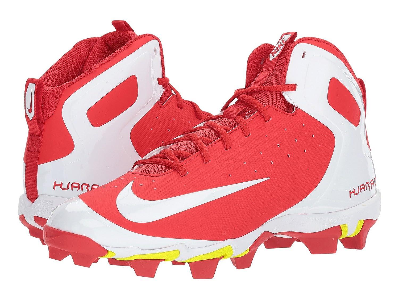 (ナイキ) NIKE メンズ野球ベースボールシューズ靴 Alpha Huarache Keystone Mid University Red/White/White 8 (26cm) D Medium B078Q1RT7Y