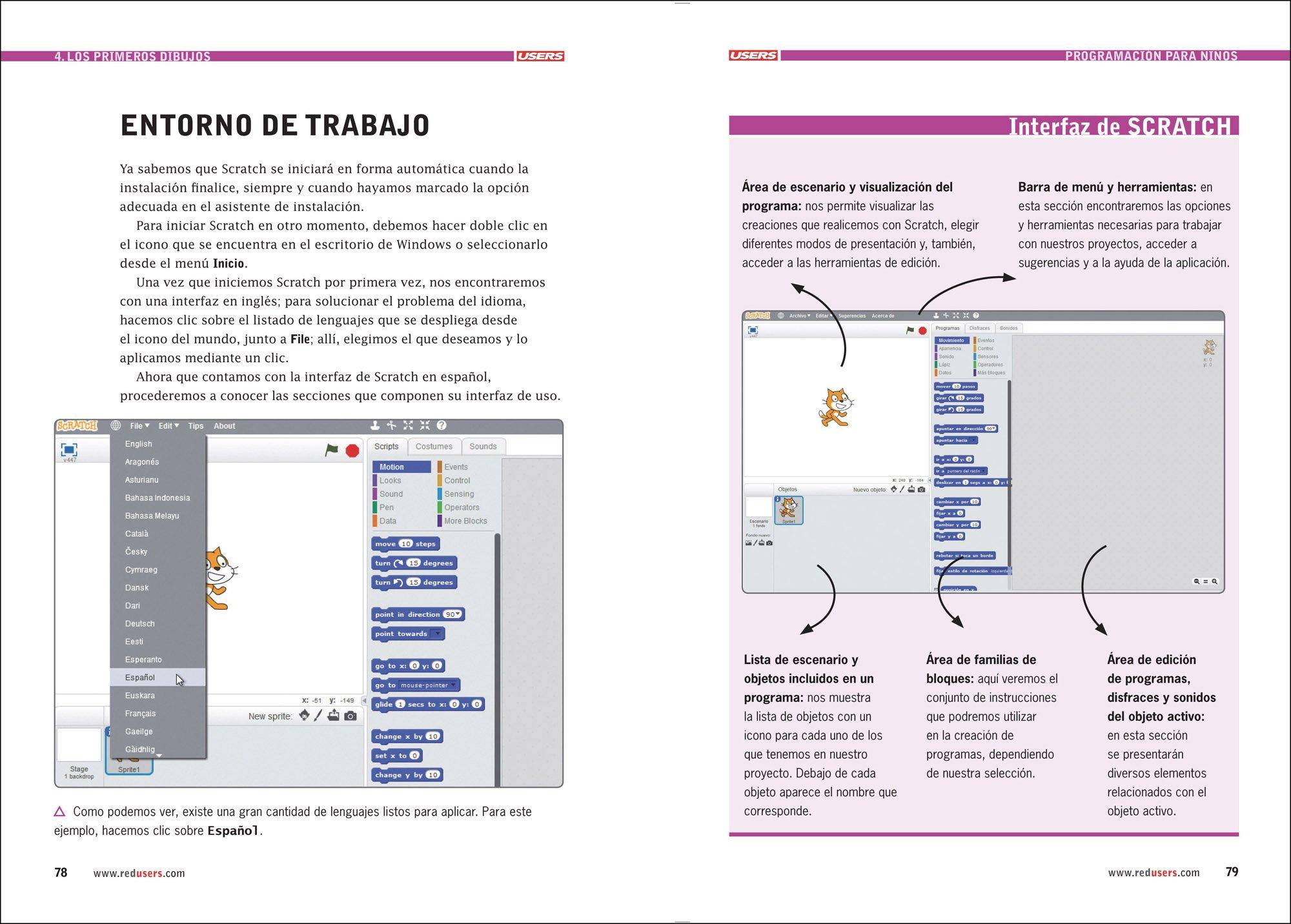 Programación para Niños - Libro1 - Guía Visual de Introducción a la Programación con SCRATCH (Spanish Edition): Claudio Peña, USERS: 9789874651853: ...