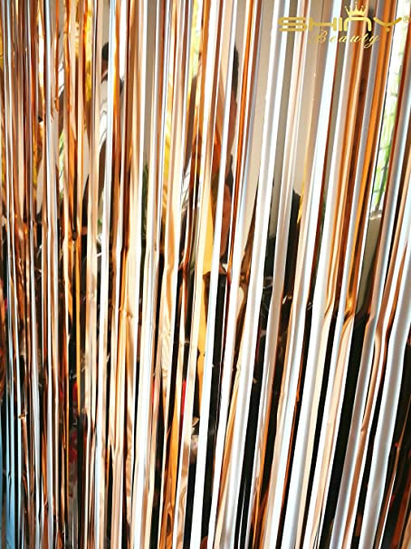 metallic string curtain shiny wedding background tinsel shimmering door gold stage from house party curtains photo pub backdrops item room in home decoration