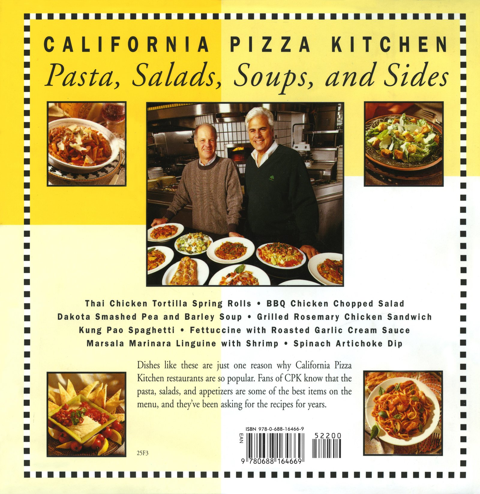California Pizza Kitchen Pasta, Salads, Soups, And Sides: Larry Flax, Rick  Rosenfield: 9780688164669: Amazon.com: Books