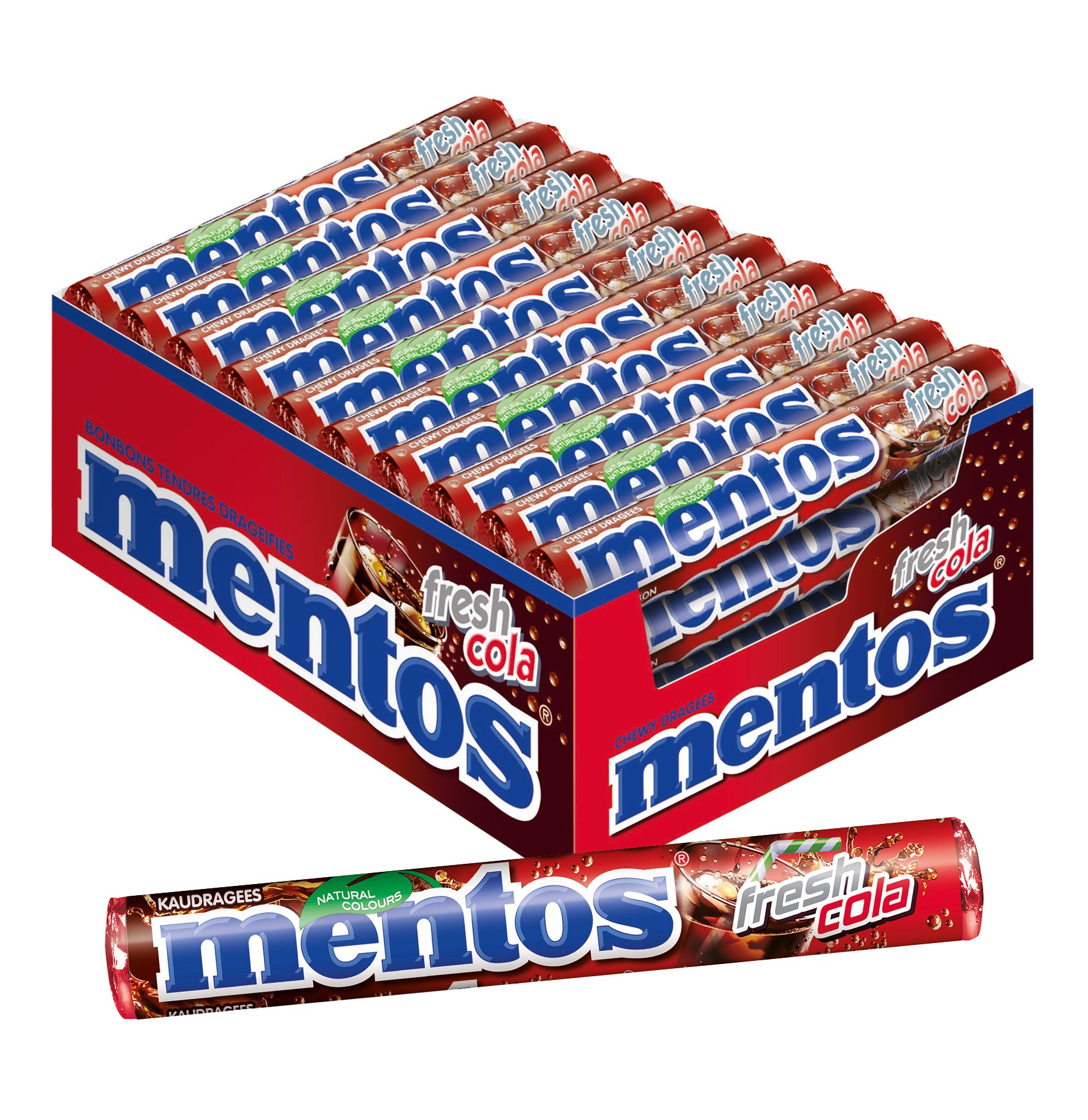 Mentos Fresh Cola Chewy Dragees 1.32-Ounce Rolls (Pack of 40) by Yulo Toys Inc