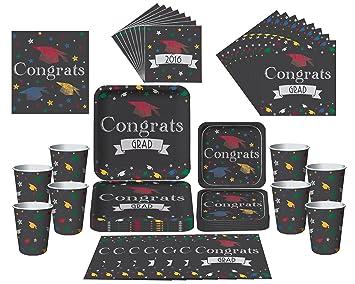 amazon com graduation party plates cups napkins table cover