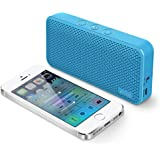 iLuv Aud Mini Ultra Slim Pocket-Sized Powerful Sound Bluetooth V4.1 Speaker for iPhone, iPad, Samsung GALAXY, Note, Tablet, LG, Google Phones, other Bluetooth Devices and Echo Dot (Blue)