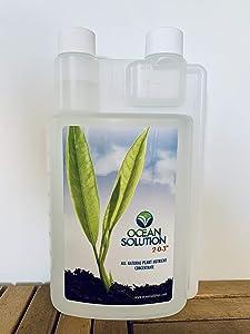 OceanSolution 2-0-3 - Plant Food - Liquid Organic Fertilizer for Gardens, Landscapes, Hydroponics (Organic Ocean Mineral Fertilizer Concentrate 32 Ounces)