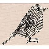 Hero Arts Mounted Rubber Stamps 2.75-inch x 3.25-inch, Newsprint Bird