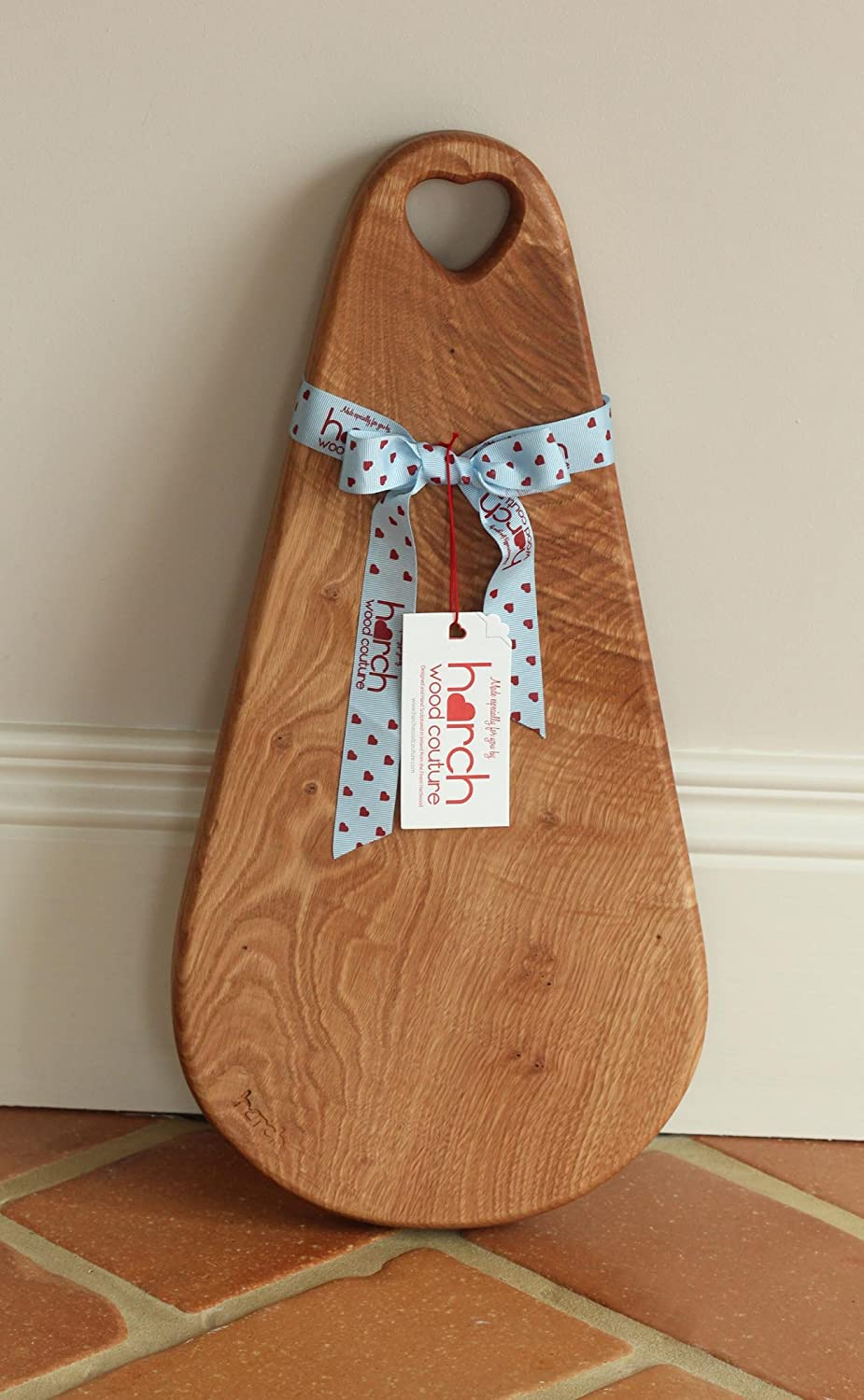 Harch Wood Couture Raindrop Chopping/Serving/Display Board, Dark Wood, Medium RAIN-AE