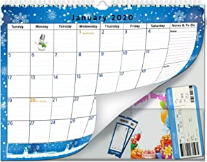 2020-2021 Monthly Wall Calendar with Pocket by StriveZen, Jan 2020 - Jul 2021, Academic, Transparent Back Pocket, 14.5 x 11.3 Inches, Thick Paper, Organizing & Planning, Mom, Family, Home-Office