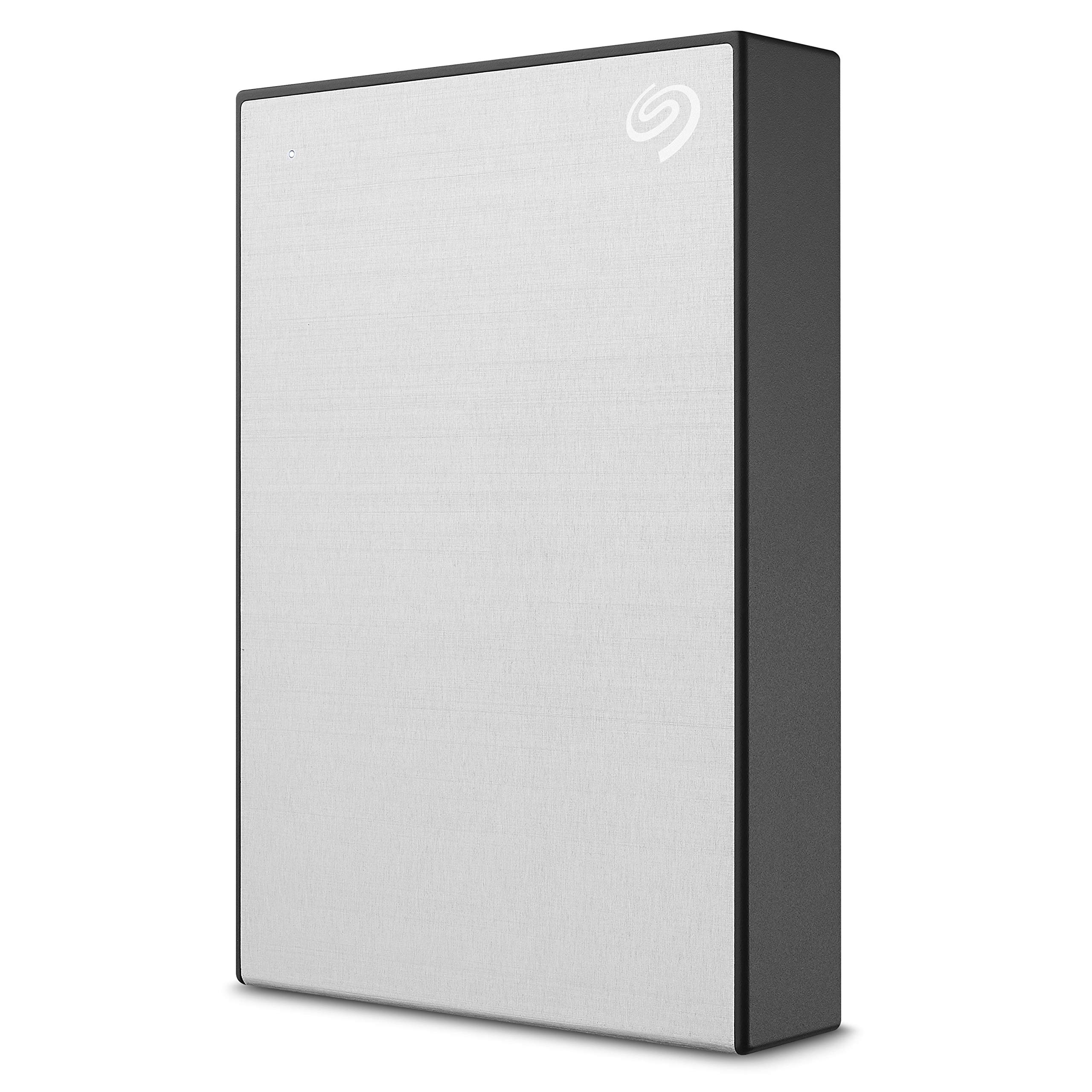 Seagate 5TB Backup Plus Portable High-Capacity External Hard Drive + 1Yr Myliocreate + 2MO Adobe CC Photography, Silver (STHP5000401)