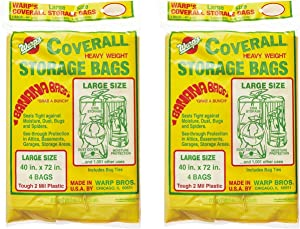 Warp Brothers CB-40 Banana Bags Storage Bags, 40-Inches by 72-Inches, 4-Count (2 Pack)