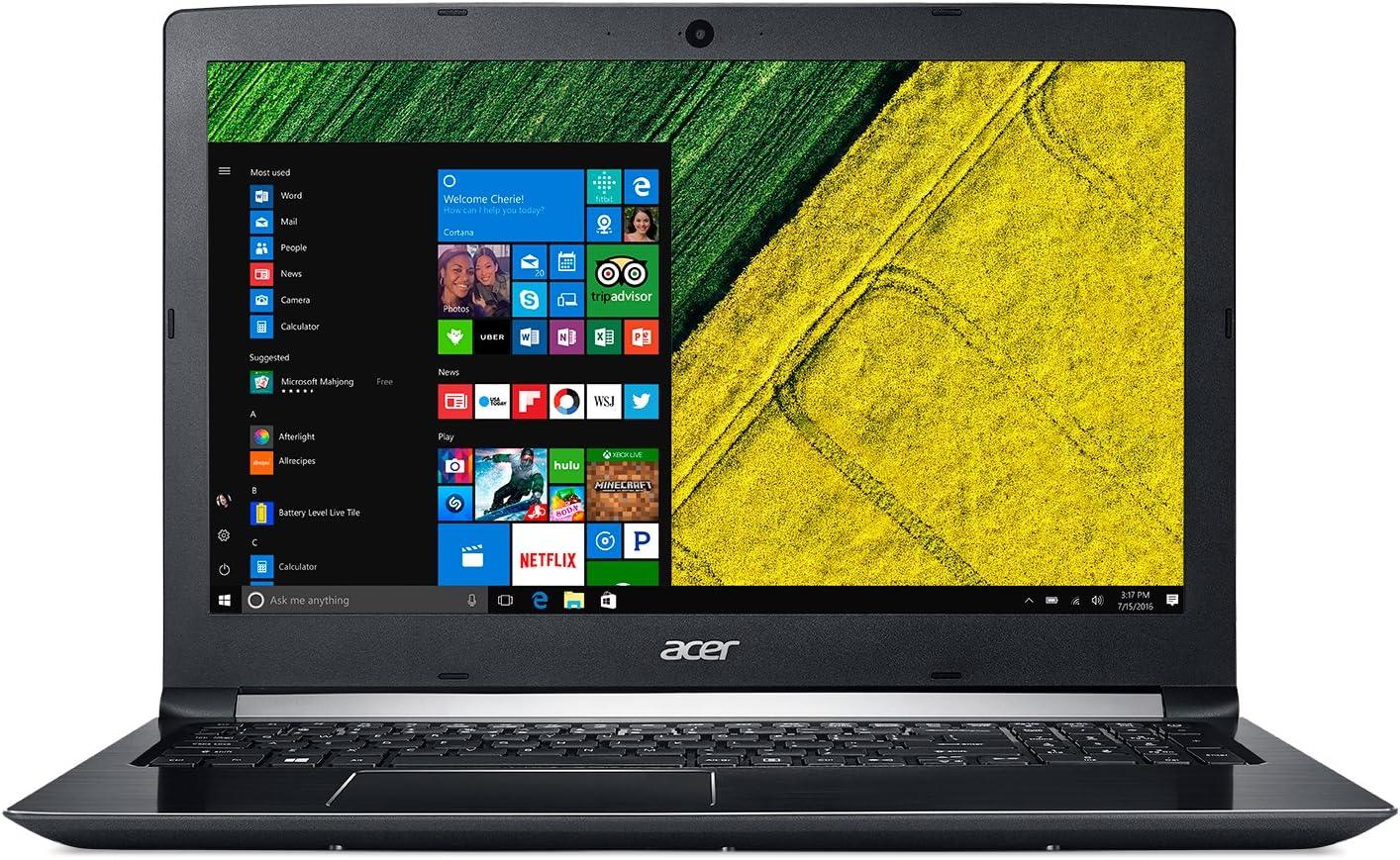 Acer 15.6in Intel Core i7 1.8GHz 12GB Ram 1TB HDD + 256GB SSD W10H|A515-51G-85EX (Renewed)