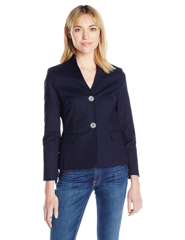 Dark Navy Nanette Nanette Lepore Womens Long Sleeve Jacket with Side Lace Up Jacket