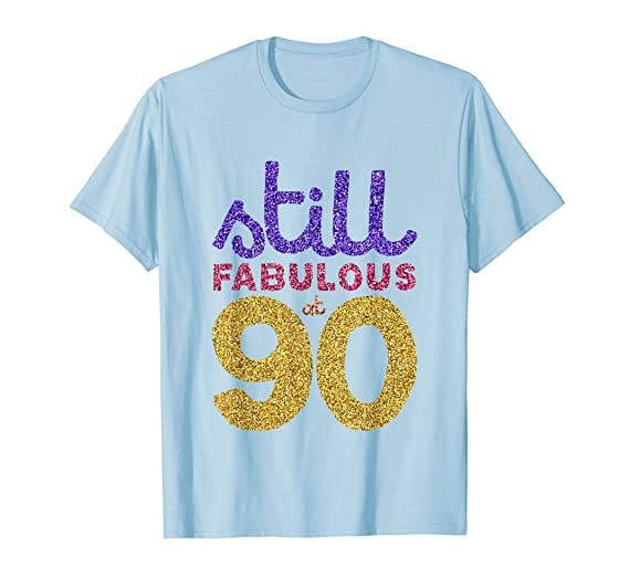 Mens 90th Birthday Shirt Womens Gift Funny 90 Year Old Grandma 2XL Baby Blue