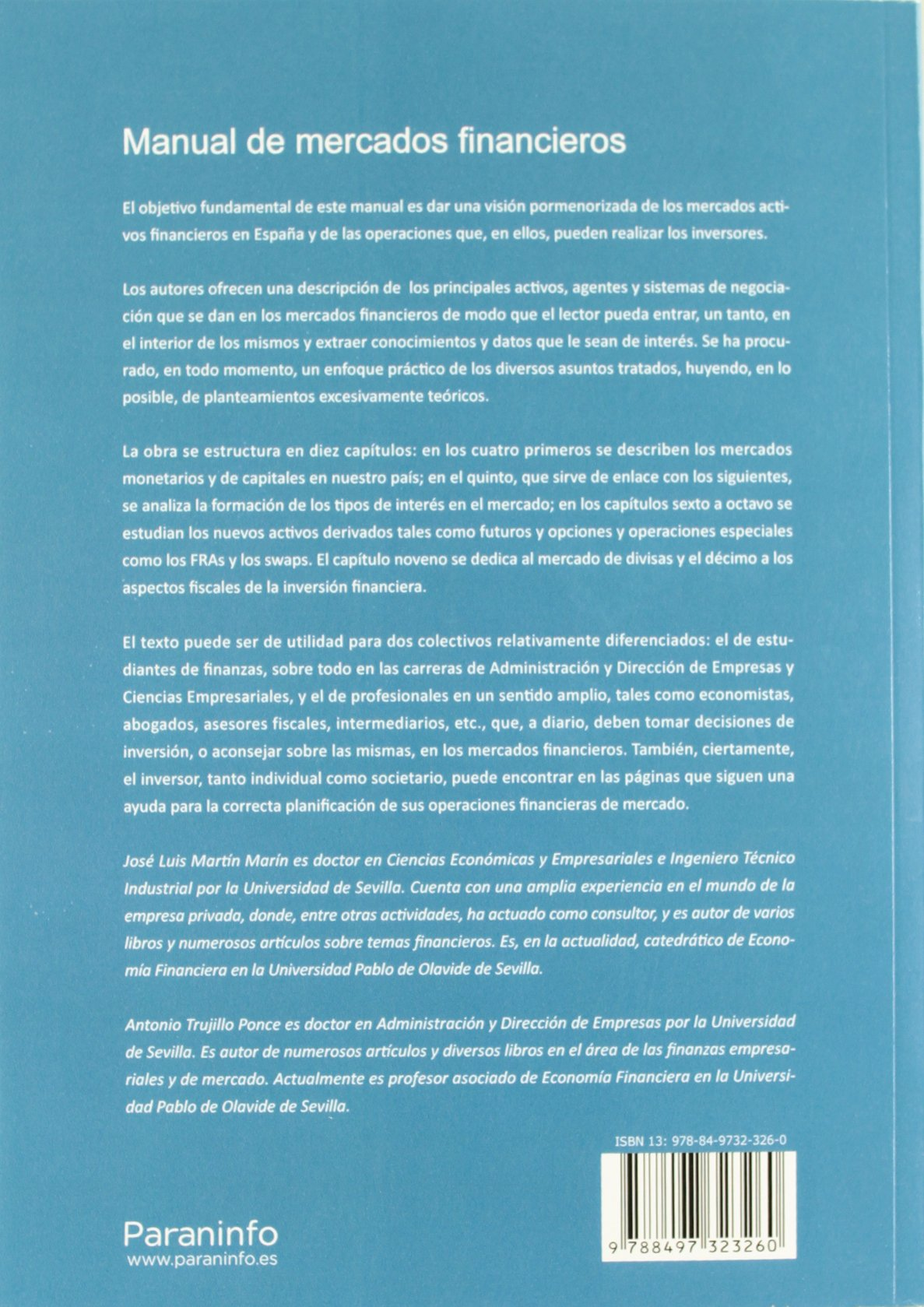 Manual de Mercados Financieros (Spanish Edition)
