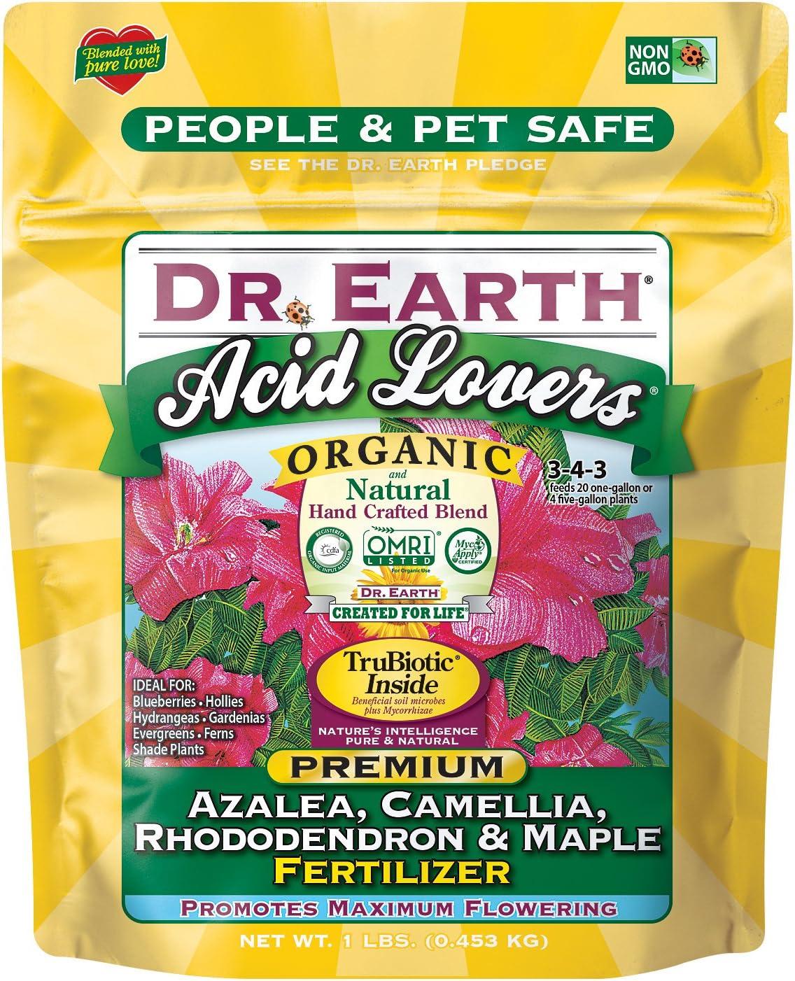 Dr. Earth Organic & Natural MINI Acid Lover Azalea, Camellia, Rhododendron & Maple Fertilizer ( 1 lbs )
