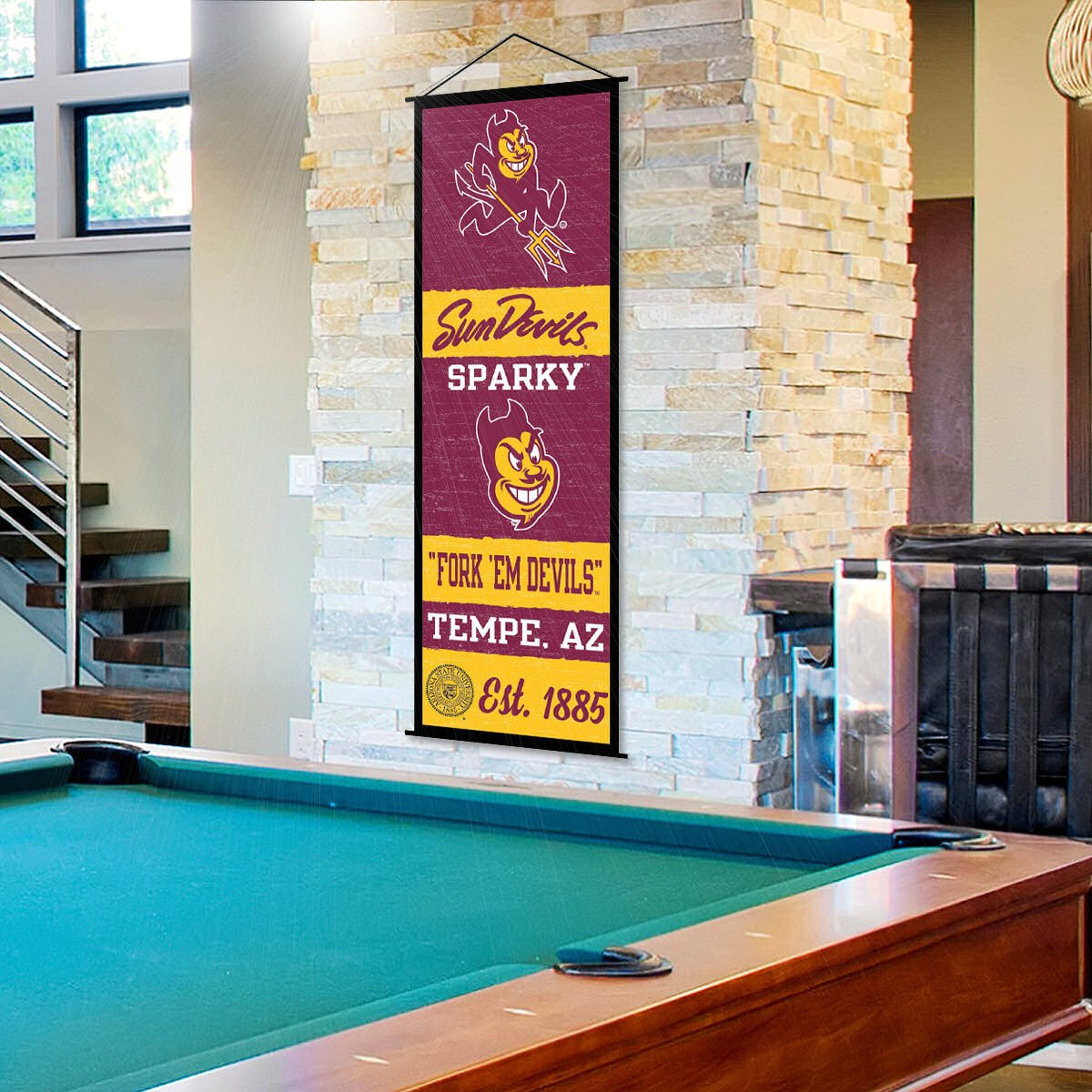 Arizona State Sun Devils Banner and Scroll Sign