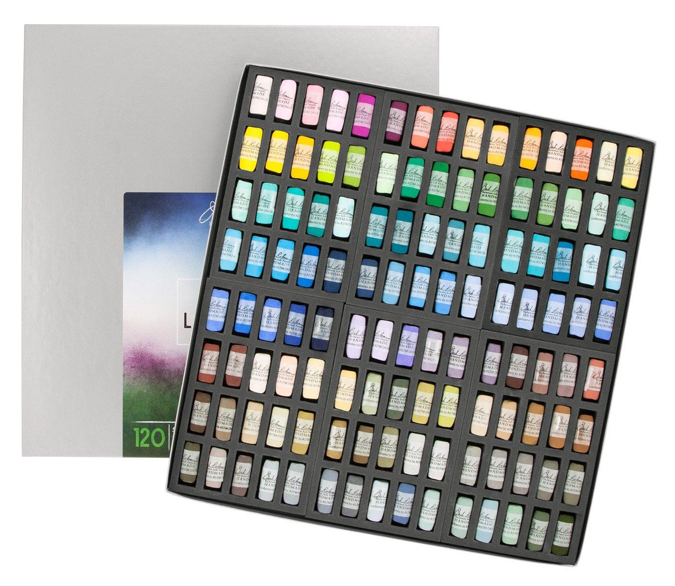 Jack Richeson Hand Rolled Soft Pastels Landscape 4, 120 Piece Set