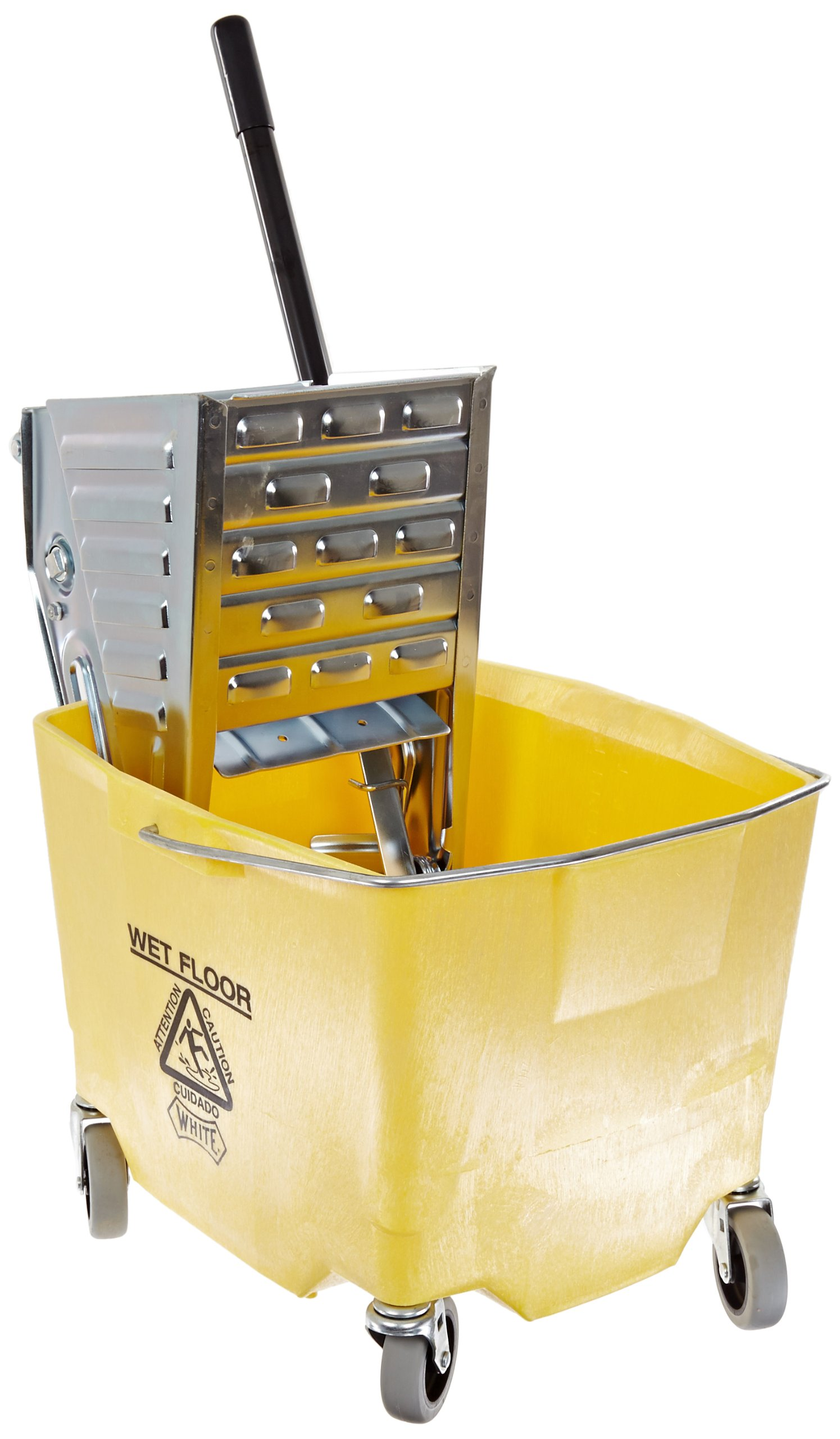 Impact 2/2635-3Y Metal Squeeze Wringer/Plastic Combo Bucket, 26-35 qt Capacity, Yellow/Metal by Impact Products