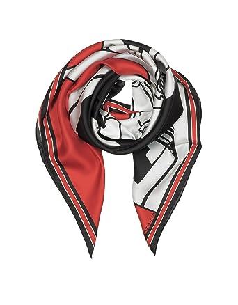 3c3f8b5470e Givenchy Femme Gw9090sc8101 Rouge Soie Foulard  Amazon.fr  Vêtements ...