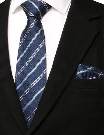 Silver Tie Pocket Square Set Patterned Handmade 100/% Silk Mens Formal Necktie