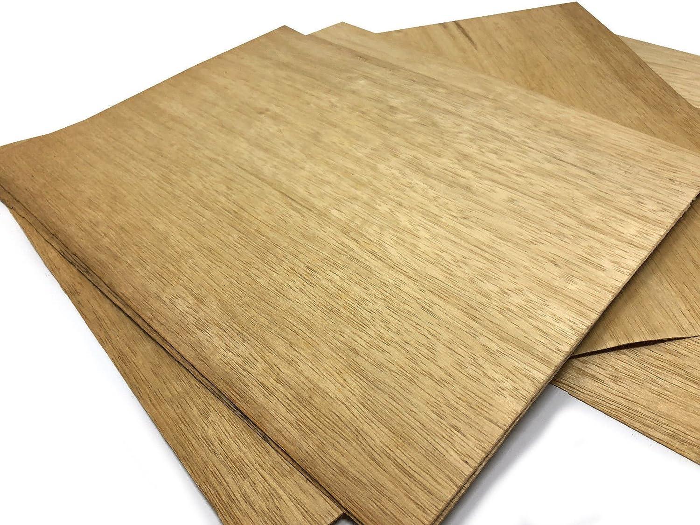 zum Basteln Ausbesserungsarbeiten Restauration 15-17 Furniere in der Holzart Limba Intarsien Furnier geeignet f/ür: Modellbau