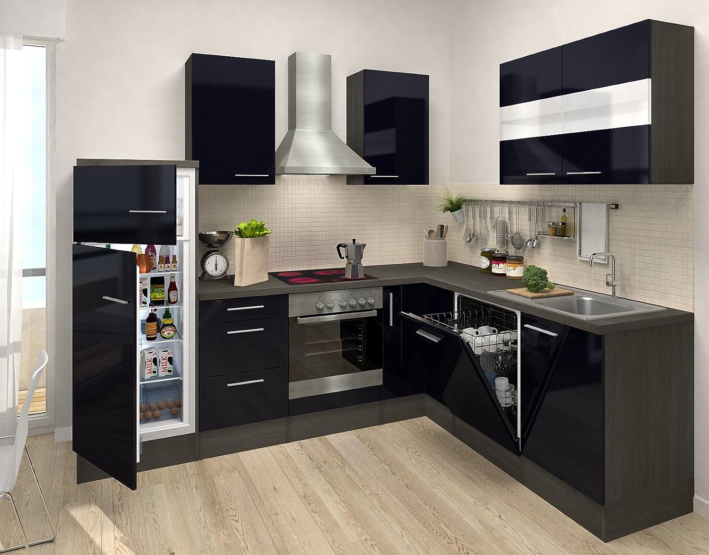 respekta Premium L ángulo de Forma de Cocina Roble Negro 260 ...