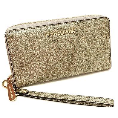 005a45d0309 Michael Kors Giftables LG Flat MF Phone Case Leather - Pale Gold: Handbags:  Amazon.com