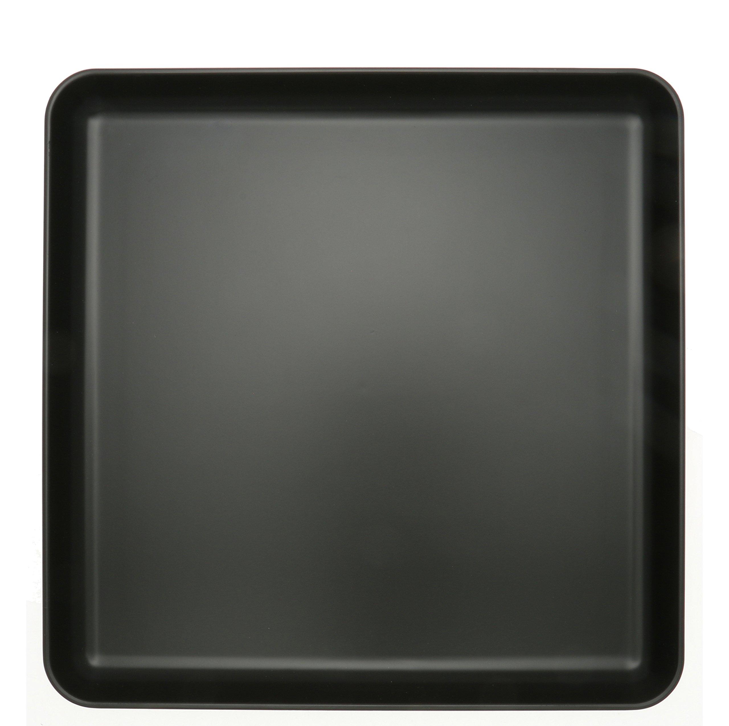 Kotobuki 270-956 Square Non-Slip Serving Tray, 13'', Black