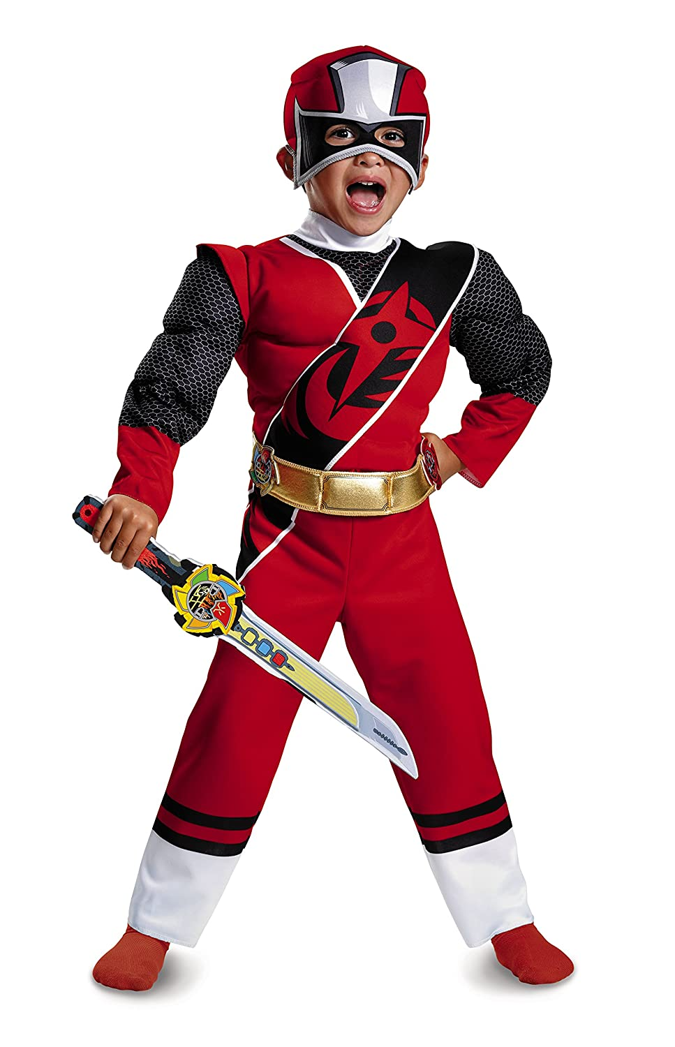 Amazon.com Disguise Power Rangers Ninja Steel Toddler Muscle Costume Red Medium (3T-4T) Toys u0026 Games  sc 1 st  Amazon.com & Amazon.com: Disguise Power Rangers Ninja Steel Toddler Muscle ...