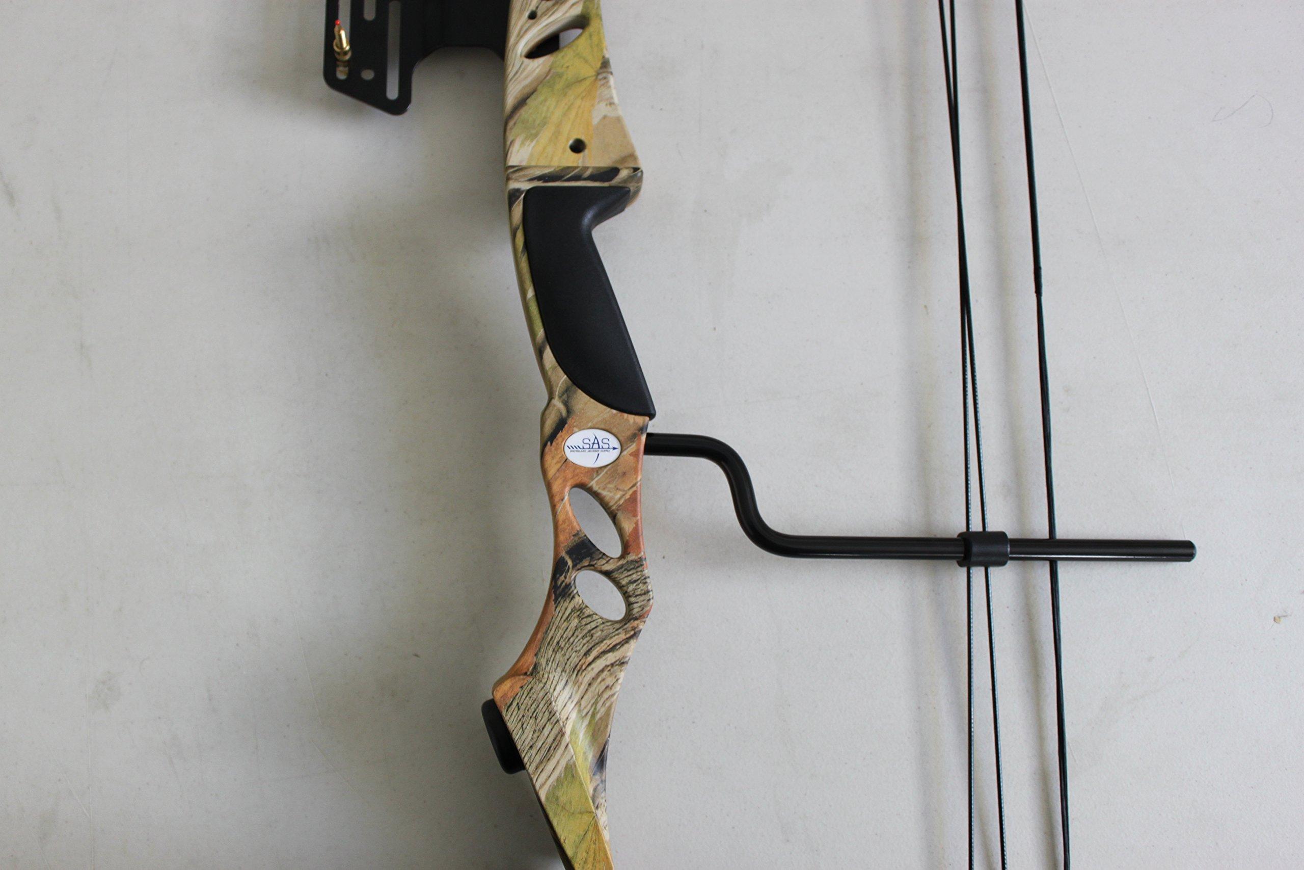 SAS Siege 55 lb Compound Bow w/ 5-Spot Paper Target - Camo by Siege