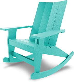 product image for Hatteras Hammocks Turquoise Adirondack Rocker, Eco-Friendly Durawood, All Weather Resistance, Fit 'N' Finish Handcrafted in The USA