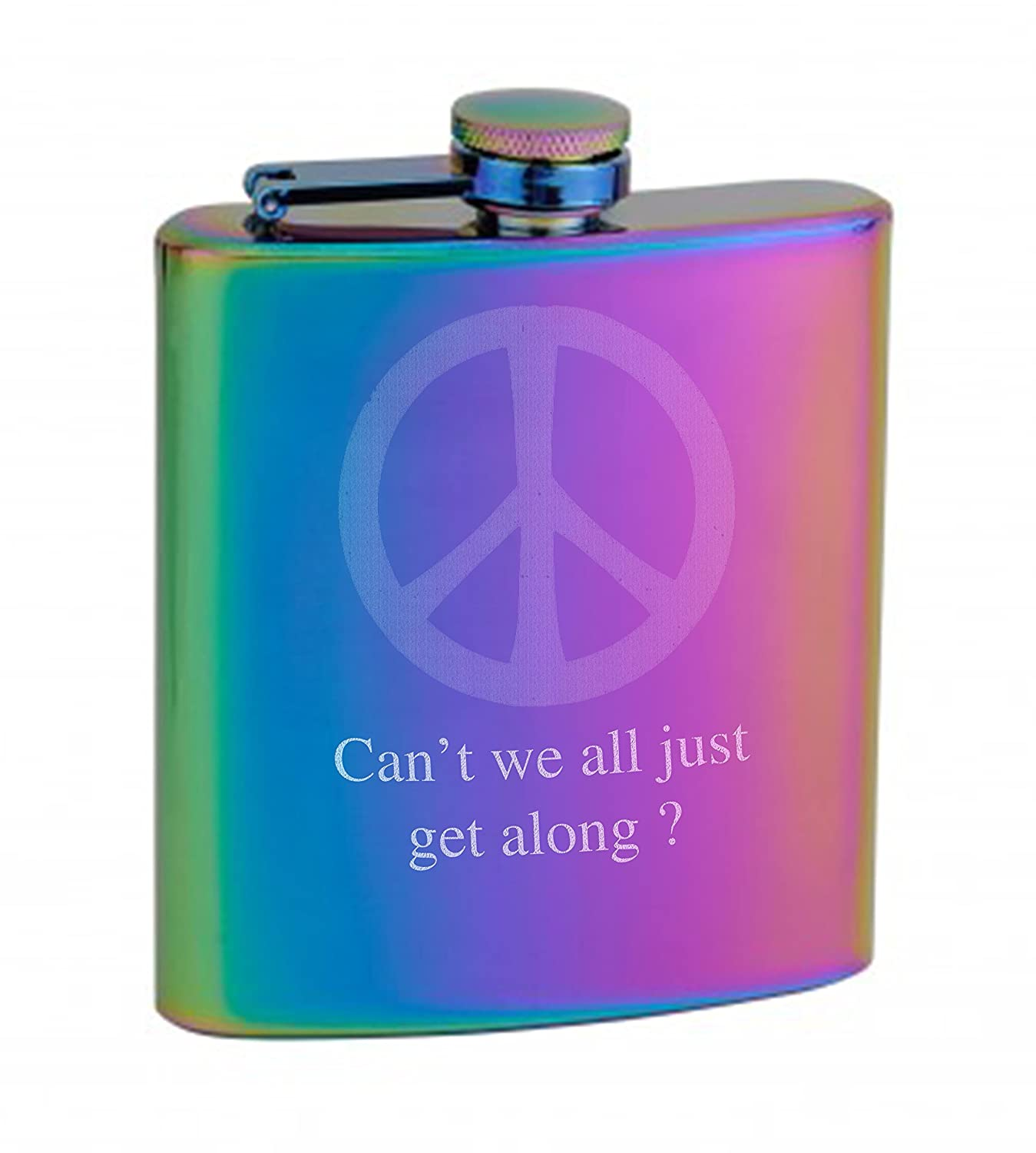 低価格で大人気の Top Shelf Flasks Flasks Rainbow Coloredヒップフラスコ、6オンスwith Personalization Rainbow Personalization B01NAUZO1L, 歌津町:42dcc5bd --- pardeshibandhu.com