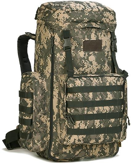 DCCN Táctico Mochilas 70L - 85L Molle Backpack Militar Mochila con Cubierta de la lluvia para Deporte ...