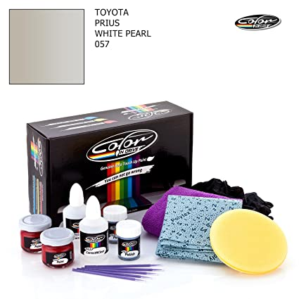 TOYOTA PRIUS / WHITE PEARL - 057 / COLOR N DRIVE TOUCH UP PAINT SYSTEM FOR  PAINT CHIPS AND SCRATCHES / PRO PACK