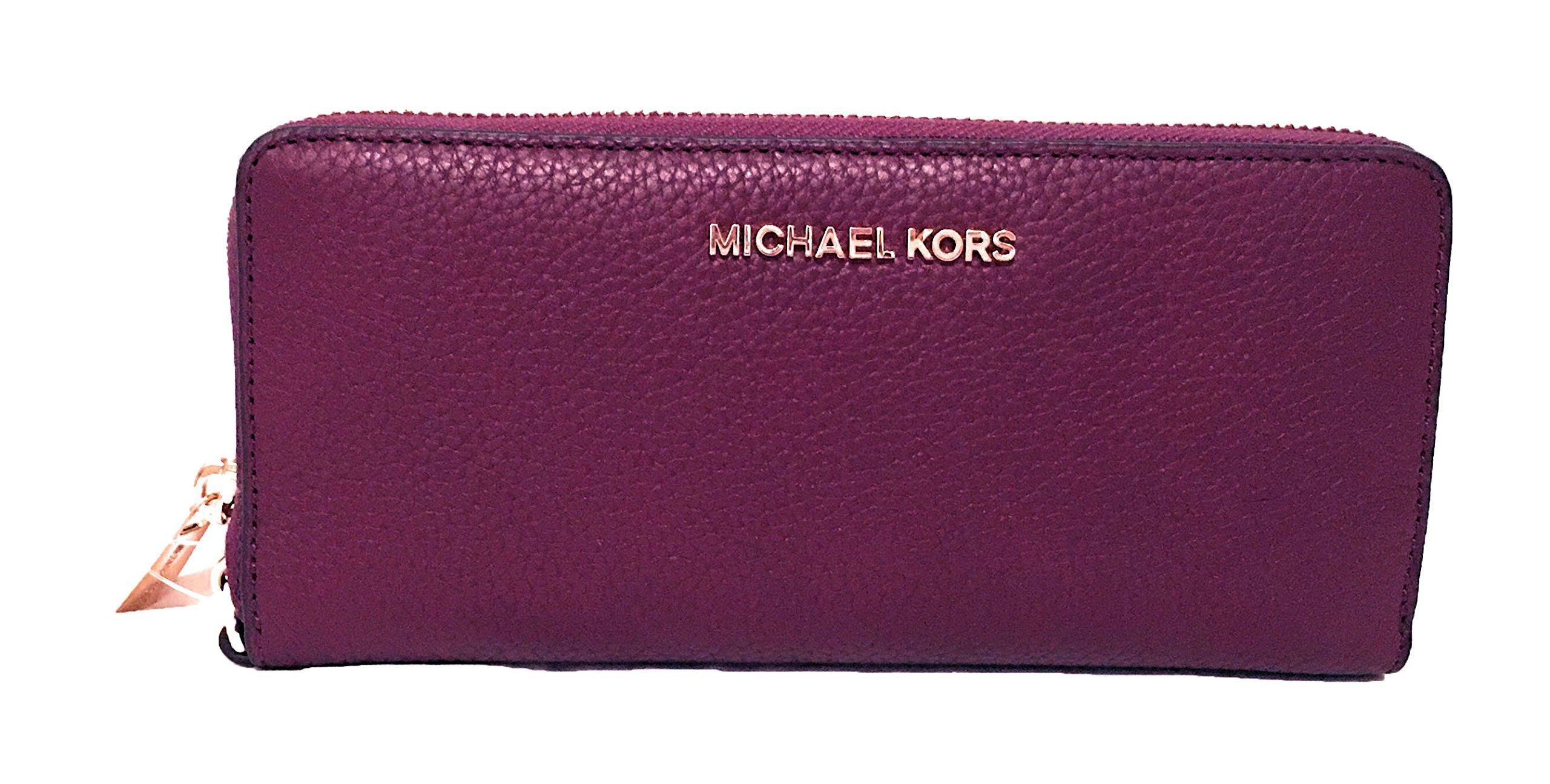 Michael Kors Jet Set Travel Continental Wallet Plum by MICHAEL Michael Kors