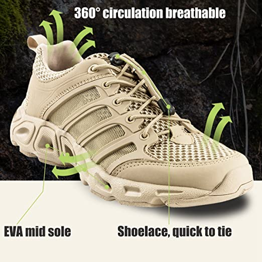 FREE SOLDIER Outdoor Men's Upstream Shoes Ultra Light Breathable Quick  Drying Tactical Shoes: Amazon.ca: Sports & Outdoors