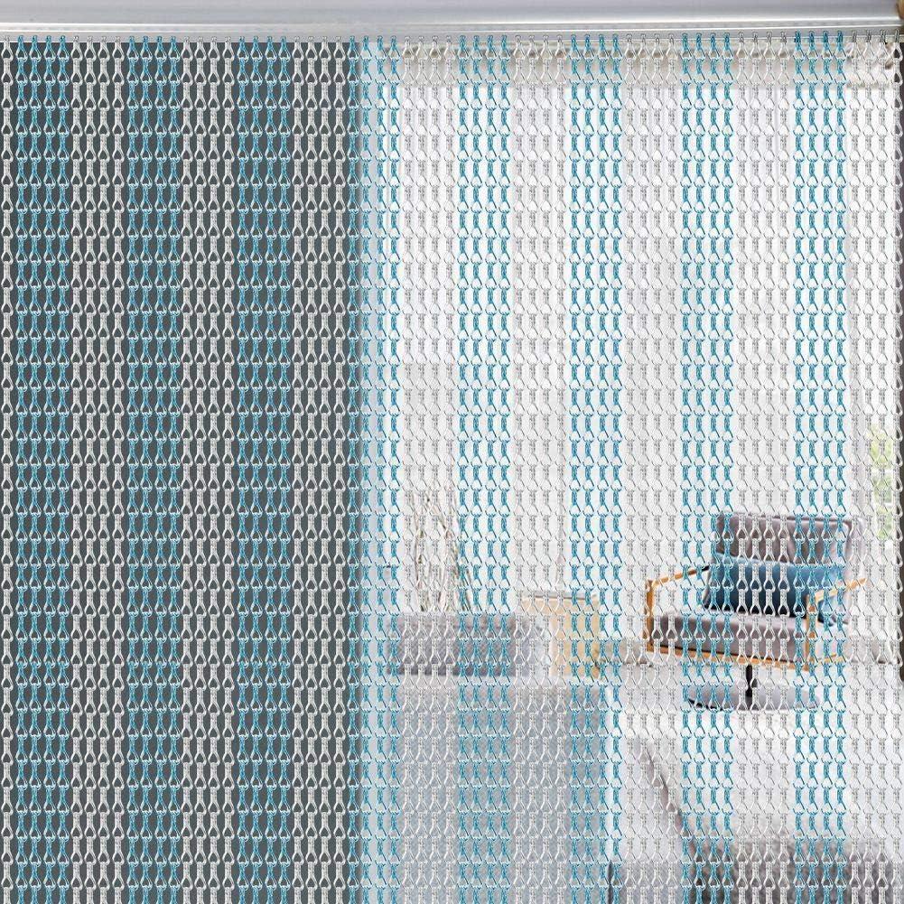 EBTOOLS Rideau de Porte d/écoratif en m/étal et Aluminium 90 x 214,5 cm